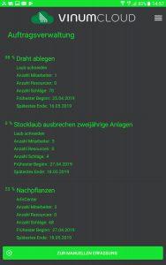 Screenshot Smartphone App Auftrag
